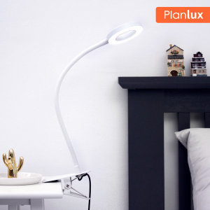 플랜룩스 링코 집게 LED스탠드 독서등 - 백색