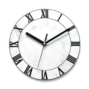 붙이는 벽시계 인테리어시계 로만빅 스톤화이트