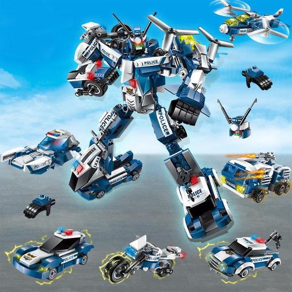 폴리스 6단 합체 변신로봇 변신로봇 합체로봇 블럭
