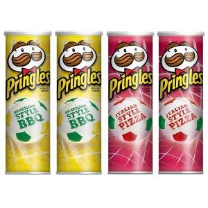 프링글스 바비큐맛 2통 + 피자맛 2통