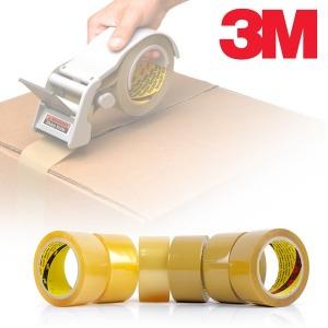 3M 박스테이프 372KS 40M 50M 70M 투명 황색 포장 OPP