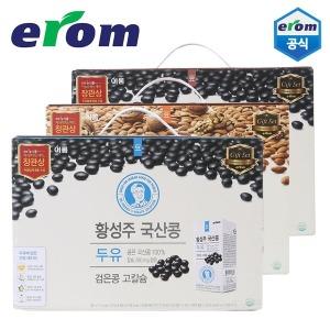 황성주 국산콩 두유 190mlX100팩-식사대용/검은콩두유