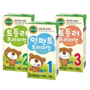정식품/프리미엄/인펀트/토들러(16팩)X4박스/아기두유
