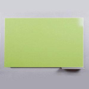 크린 난반사 유리칠판 노베젤 연두색   900x600mm