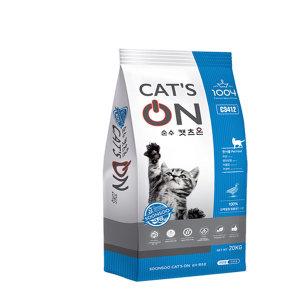 고양이사료/순수캣츠온20Kg (비닐포장)/길냥이사료
