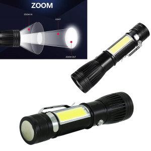 LED 충전식 후레쉬 손전등 작업등 등산 캠핑 랜턴 102