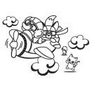 아이방 포인트 스티커 동물비행기