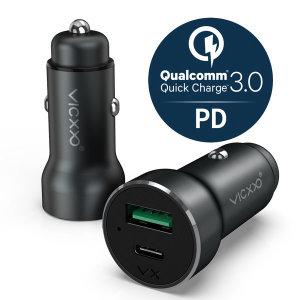 퀄컴 퀵차지 3.0+USB C PD 차량용 고속 핸드폰 충전기
