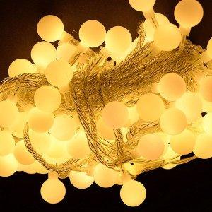 (지아이비 ) LED 100구 앵두전구 메모리형_투명선 전구색