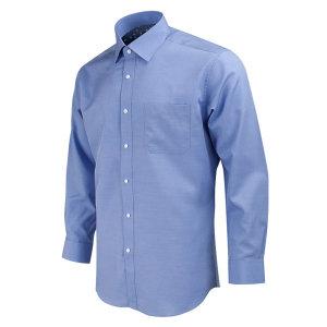 링클프리 프리미어 모달 파란색 긴팔셔츠_RF1122