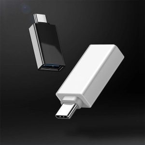 USB에서 C타입 변환젠더 블랙