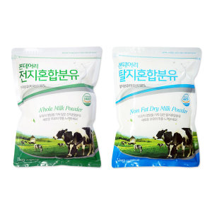 코리원/전지분유 1kg/탈지분유/유청분말/우유/간식