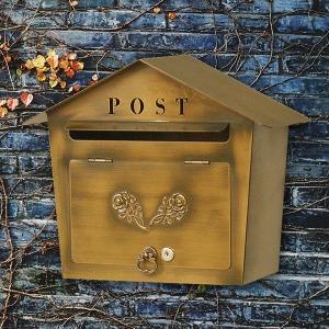 국산로즈하우스 벽걸이우편함/전원주택우체통/편지함