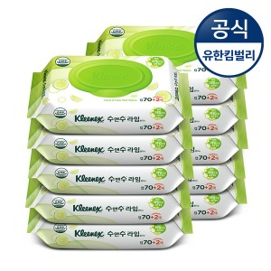 수앤수 라임물티슈캡 70+2매10개입/화장지/휴지