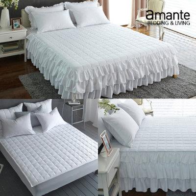 [아망떼] 로맨틱 침대스커트/침대커버/순면/침대패드/(SS/Q/K)