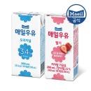 매일 멸균우유 딸기우유/오리지널 200ml 48팩/두유