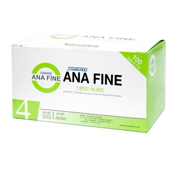 아나파인 펜니들 32G 4mm (100개) 인슐린 주사바늘