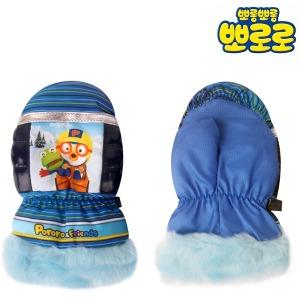 뽀로로 방수 벙어리 아동 스키 장갑 블루04 어린이