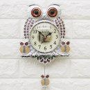 인테리어벽시계 깜찍부엉이-실버/집들이선물 엔틱시계