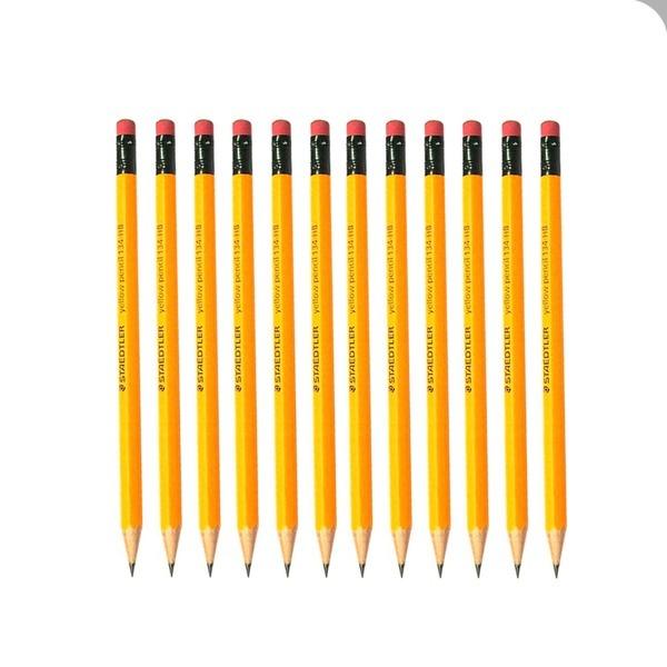 스테들러 옐로우지우개연필134 HB 1타(12자루) 필기류
