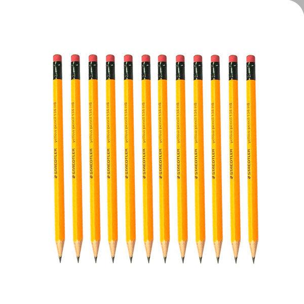 스테들러 옐로우지우개연필134 2B 1타(12자루) 필기류
