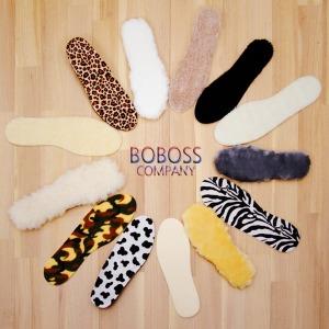 100% 천연 양털 깔창 키높이 신발 털 운동화 신 구두