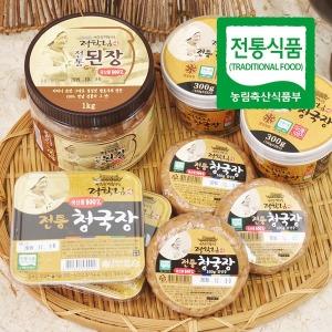 (전통식품인증)정학님의 국산콩 수제 청국장 160g 6개