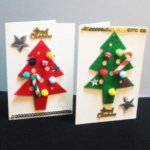 크리스마스 트리카드만들기