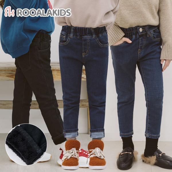 루알라키즈 아동청바지/겨울신상/기모/본딩