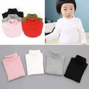 유아 아동 머플러 넥워머 목폴라 티셔츠 폴라티 목티