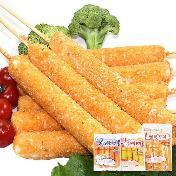 쌀떡꼬지/구멍떡스틱/쌀떡도그(치즈/고구마)/미니꼬치