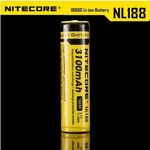 나이트코어 18650 배터리 충전지 NL188 3100mAh  W05A