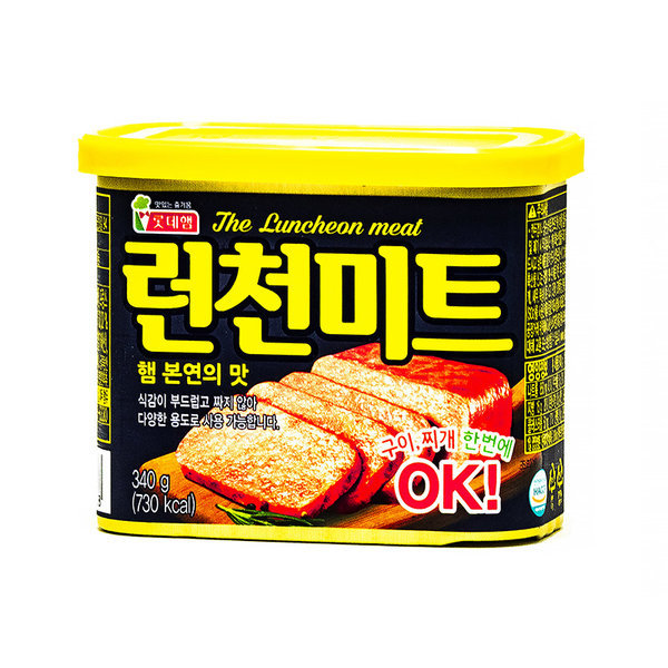 런천미트 340g 롯데 햄 스팸 부대찌개