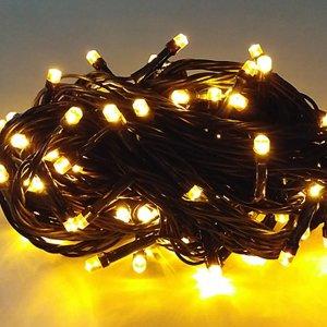 LED 100구 DC24V 트리전구 (흑색전선-황색)