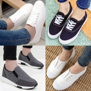 여성 스니커즈 키높이 슬립온 운동화 플랫 단화 신발