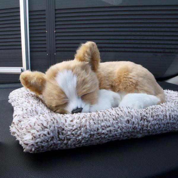 잠자는 숯 강아지 인형 탈취제 공기정화 제습 방향제