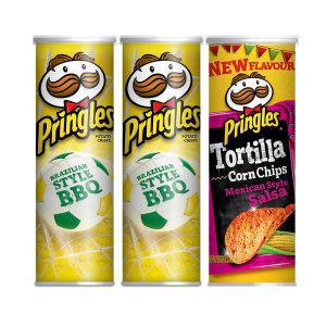 프링글스 바비큐맛 2통 + 멕시칸살사 1통