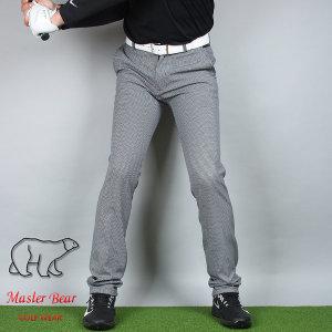 Master Bear 아이언 체크 팬츠 겨울 남성 골프바지