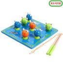 원목 개구리 낚시놀이/장난감