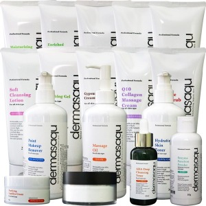 더마사큐 피부관리시험화장품+모델링1kg+석고팩+가방