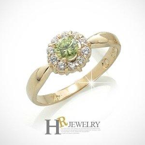 호림쥬얼리 14K정품)히트(HR)(8월탄생석)14K 페리도트 반지