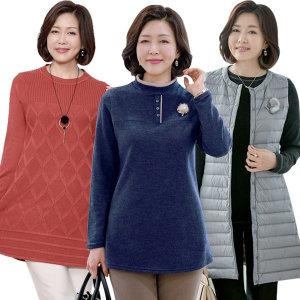 로즈맘엄마옷 겨울신상 기모패딩 5060대중년여성의류