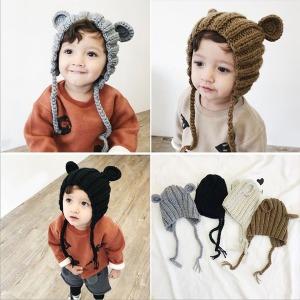 곰돌이/아동니트모자/아기모자/아기겨울모자/아동모자