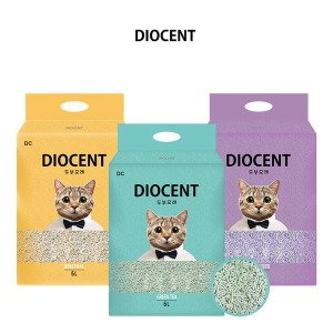디오센트 고양이모래 6L 6개 두부모래 배변모래