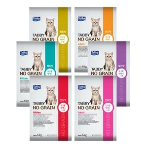 테비 노그레인 키튼/어덜트 6kg/3가지맛/고양이사료
