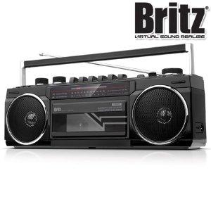 카세트 플레이어 블루투스 라디오 스피커 MP3 블랙