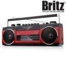 카세트 플레이어 블루투스 라디오 스피커 MP3 레드