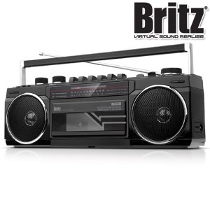 블루투스 라디오 카세트 플레이어 레트로 스피커 블랙