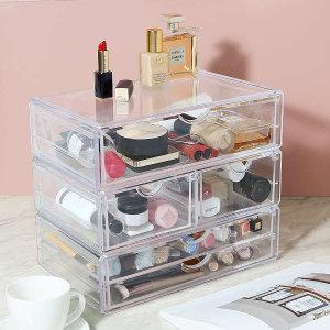 (현대Hmall)파우더룸 화장품 수납정리 투명 아크릴 서랍 시리즈