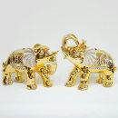 황금보석코끼리2p세트(대) 장식소품 집들이 개업선물